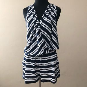 Chic Striped Romper by Michael Stars